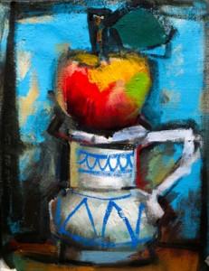 La-manzana. Fondo