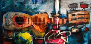 Composiciones guitarra y palmatoria. Adquirido